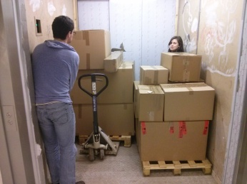 Equipment Arriving © Researchers of the lab
